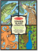 Stained Glass Colouring Pad - Animals