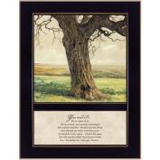 Black Framed Print 26cm x 36cm -Forever