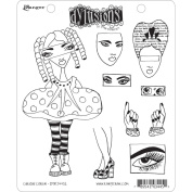 Dyan Reaveley's Dylusions Cling Stamp Collections 22cm x 18cm -Curious Corrin