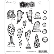 Dyan Reaveley's Dylusions Cling Stamp Collections 22cm x 18cm -Love Struck Lucy