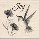Inkadinkado Mounted Rubber Stamp-Hummingbird Joy