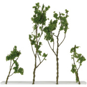 Wire Foliage Trees 3.8cm To 7.6cm 24/Pkg-Light Green