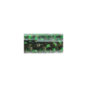 Mode International RSB6-57066 Round Seed Beads 6-0 5.5 in.Tube-Emerald Silver Line