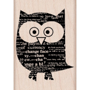 Hero Arts Mounted Rubber Stamps 4.4cm x 4.4cm -Newspaper Owl