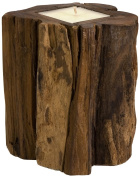 IMAX Teakwood Candle Holder