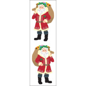 Mrs. Grossman's Stickers-Bright Santas