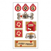 SandyLion Essentials Dimensional Stickers-I Love My Dog