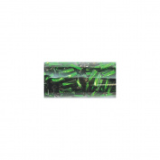 "Swirl Bugle Beads 5.5"" Tube-5mm Emerald Silver Lined"