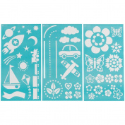 Martha Stewart Large Stencils 3 Sheets/pkg, Playroom 8, 1.9cm x 16, 1.9cm 46 Designs