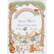 Our Little Blessing Birth Record Counted Cross Stitch Kit, 25cm x 34cm , 14-count