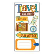 SandyLion Essentials Dimensional Stickers-Travel Adventure