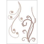 Self-Adhesive Jewel Embellishments 11cm x 17cm Sheet-Ice & Fire Champagne & Chocolate
