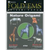 Fold 'Ems Origami Paper 15cm x 15cm 24/Pkg-Zoo World