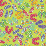 Carolina 490748 Domestic Bandanna 60cm x 60cm -Flip Flop Fun