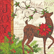 """Dimensions Gold Collection """"Winter Reindeer"""" Counted Cross Stitch Kit, 30cm x 30cm"""