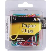 Paper Clips-Vinyl Coated-Assorted Colours 125/Pkg