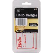 """Labels-Hello Badges 2.3125""""X3.3125"""" 25/Pkg"""