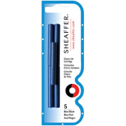 Sheaffer Ink Cartridges 5/Pkg-Blue/Black