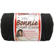 Bonnie Macrame Craft Cord 6mm 100 Yards-Black