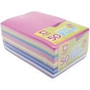 Foam Sheets 14cm x 22cm 50/Pkg-Bright Colours