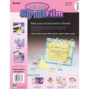 Ink Jet Shrink Film 22cm x 28cm 6/Pkg-White