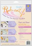 Rub-Onz Printer Film 22cm X28cm 4/Pkg-Clear