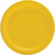 Big Party Pack Dinner Paper Plates 23cm 60/Pkg-Sunshine Yellow