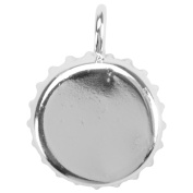 Base Elements Bottle Cap Pendant 37mm 1/Pkg-Silver Overlay