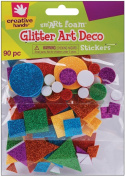 Fibre Craft 8021E Foam Glitter Stickers 90-Pkg-Art Deco