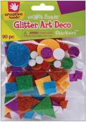 Fibre Craft 8021E Foam Glitter Stickers 90-Pkg-Art Deco