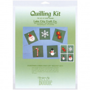 Lake City Craft Q211 Quilling Kit Christmas Cards and Tags