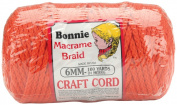 Bonnie Macrame Craft Cord 6mm 100 Yards-Orange