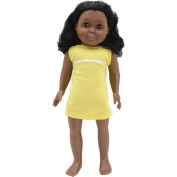 Springfield Collection Pre-Stuffed Doll 46cm -Madison-Black Curly Hair and Brown Eyes