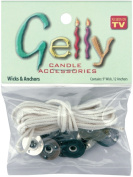 Gelly Candle Wick and Anchors, 2.7m Wicks and 12 Anchors