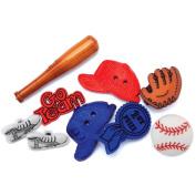 Blumenthal Lansing Favourite Findings Buttons, Baseball, 8/Pkg Multi-Coloured