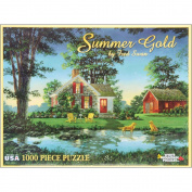 """White Mountain Puzzles Jigsaw Fred Swan 1000 Pieces 60cm X30""""-Summer Gold"""