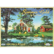 "White Mountain Puzzles Jigsaw Fred Swan 1000 Pieces 60cm X30""-Summer Gold"