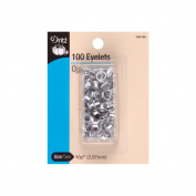 Dritz 104-65 Eyelets 5-32 in. 100-Pkg-Nickel