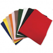 Classic Soft Felt 23cm x 30cm 25/Pkg- Primary Colours