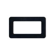 Plastic Purse Handle 7.6cm X13cm Rectangle-Black