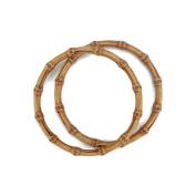 Plastic Bamboo-Look Handles 15cm - 0.6cm Round-Natural 2/Pkg