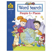 School Zone Activity Workbooks 32 Pages-Word Search-People/Places Ages 8+