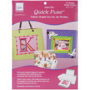 Quick Fuse Iron-On Ink Jet Fabric Sheets 22cm x 28cm 10/Pkg-White
