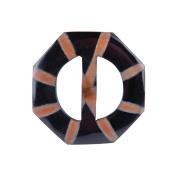 Handmade Horn Buckle-Octagon 5.1cm - 0.6cm x 5.7cm