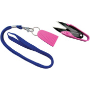 Dura Snips Squeeze-Style Thread Snips 10cm - 1.9cm -Pink & Blue