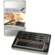 Life Drawing Art Kit W/Tin-