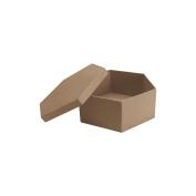Paper Mache Hexagon Box-18cm X18cm X7.6cm