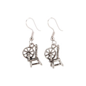 Charming Accents French Wire Earrings-Spinning Wheel