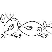 Sten Source Quilt Stencils By Pepper Cory, 13cm Leafy Branch Braid