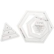 Quilt Sense Hexagons & 60 Degree Triangles-3 Sizes